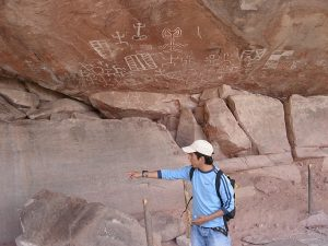 Rondreizen Peru en Bolivia .Inca beschilderingen rotsen bolivia